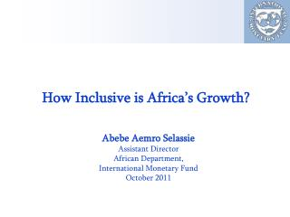 How Inclusive is Africa's Growth?