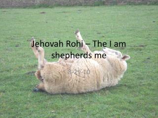 Jehovah Rohi – The I am shepherds me