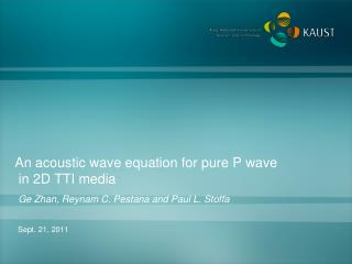 An acoustic wave equation for pure P wave  in 2D TTI media