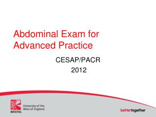 Abdominal Exam for Advanced Practice