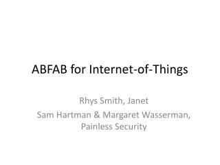 ABFAB for Internet-of-Things