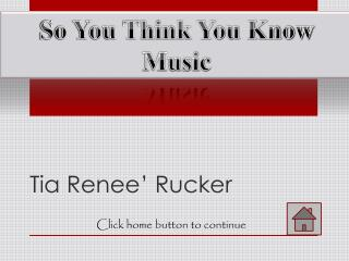 Tia Renee' Rucker