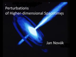 Perturbations  of Higher-dimensional  Spacetimes