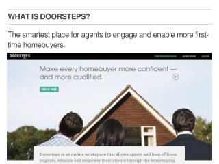 The smartest place for agents to engage and enable more first-time homebuyers.