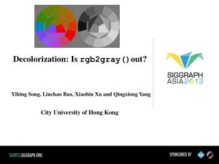 Decolorization : Is rgb2gray() out?