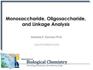 Monosaccharide, Oligosaccharide,  and Linkage Analysis