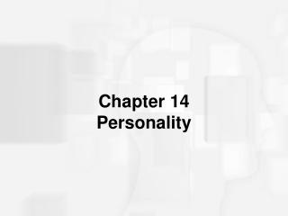 Chapter 14 Personality