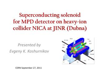 Superconducting  solenoid  for  MPD detector on heavy-ion collider NICA at JINR ( Dubna )