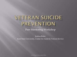 Veteran Suicide Prevention