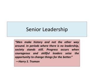 Senior Leadership