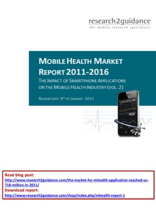 Mobile Health Market Report 2011-2016
