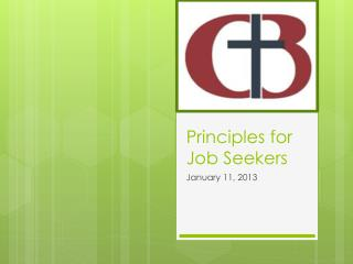 Principles for Job Seekers