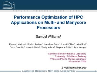Performance Optimization of HPC Applications on Multi- and  Manycore Processors