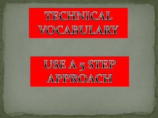 TECHNICAL VOCABULARY