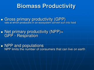 Biomass Productivity