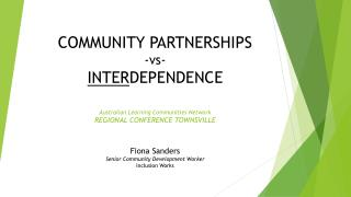 Fiona Sanders Senior Community Development Worker Inclusion Works
