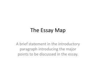 The Essay Map