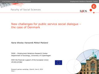 New challenges for public service social dialogue – the case of Denmark
