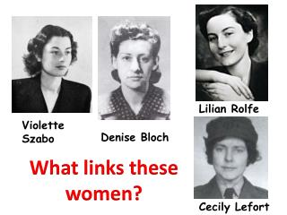 What links these women?