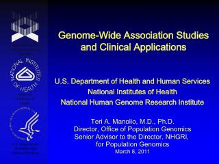 Genome-Wide Association Studies and Clinical Applications