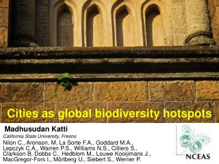 Cities as global  biodiversity hotspots