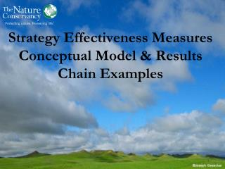 Strategy Effectiveness Measures Conceptual Model & Results Chain  Examples