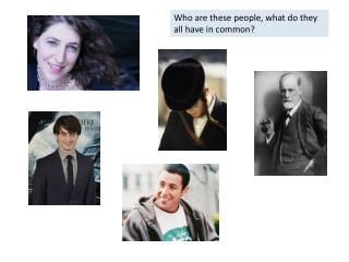 Who are these people, what do they all have in common?
