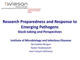 Research Preparedness  and  Response  to  Emerging Pathogens Stock- taking  and Perspectives