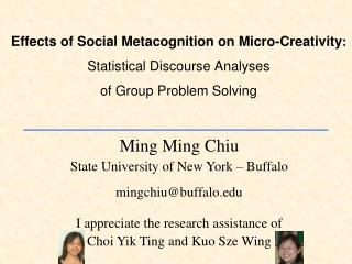 Ming Ming Chiu State University of New York – Buffalo