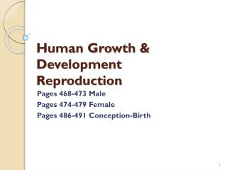 Human Growth & Development Reproduction