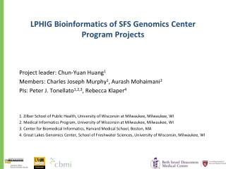 LPHIG Bioinformatics of SFS Genomics Center Program Projects