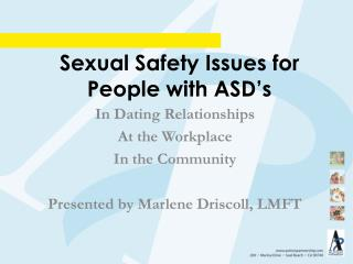 Sexual Safety Issues for People with ASD's