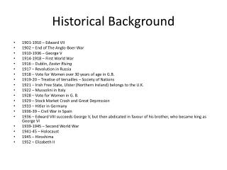 Historical  Background