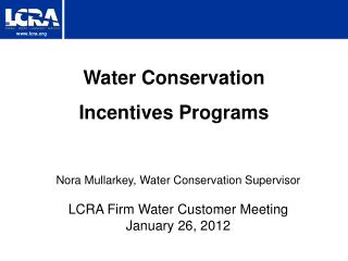 Water Conservation Incentives Programs