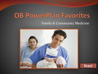 OB PowerPlan Favorites