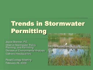 Trends in Stormwater Permitting