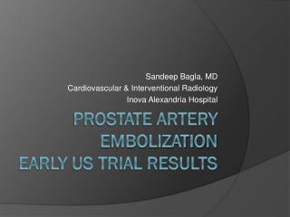 Prostate Artery Embolization  Early US Trial Results