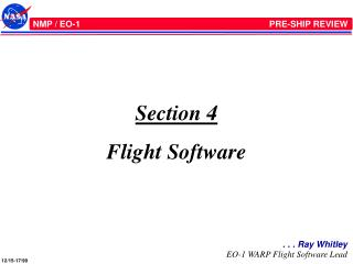 Section 4 Flight Software