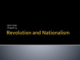 Revolution and Nationalism