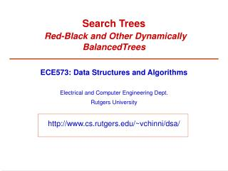 Search Trees Red-Black and Other Dynamically BalancedTrees