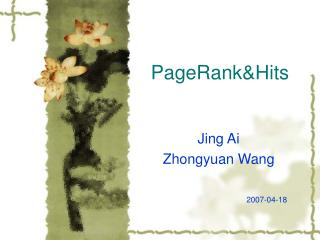 PageRank&Hits