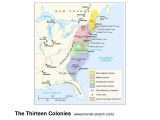 The Thirteen Colonies   (www.trends-search.com)