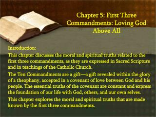 Chapter 5: First Three Commandments: Loving God Above All