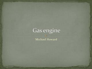 Gas engine