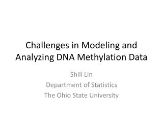 Challenges in Modeling and Analyzing DNA Methylation Data