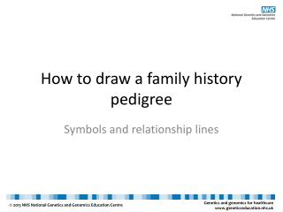 How to draw a family history pedigree