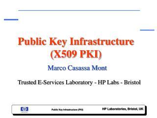 Public Key Infrastructure (X509 PKI)