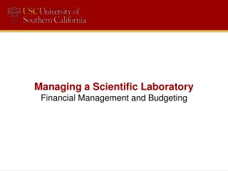 Managing  a Scientific Laboratory Financial Management and Budgeting