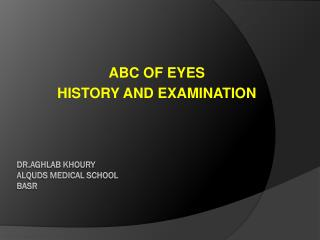Dr .Aghlab Khoury AlQuds medical school basr