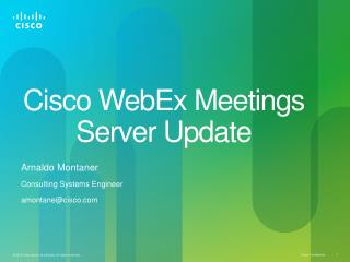 Cisco WebEx Meetings Server Update